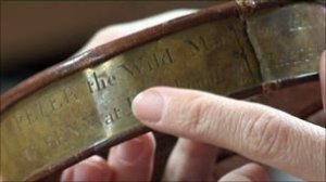 Iron collar inscribed for 'Peter the Wild Man'