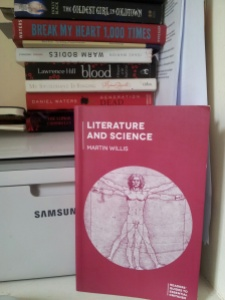 books of blood and science co-mingle on my desk but this is the newest