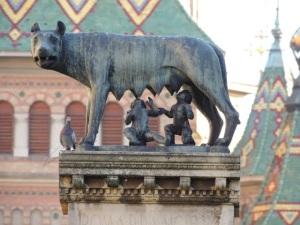 Capitoline-Wolf-statue-Timisoara